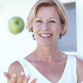 Mujer en La menopausia y su nutrición