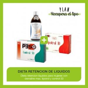 Dieta para la retención de líquidos