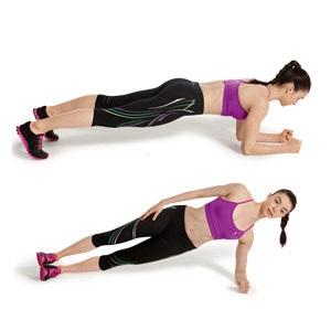 Quema grasa con el HIIT plancha abdominal