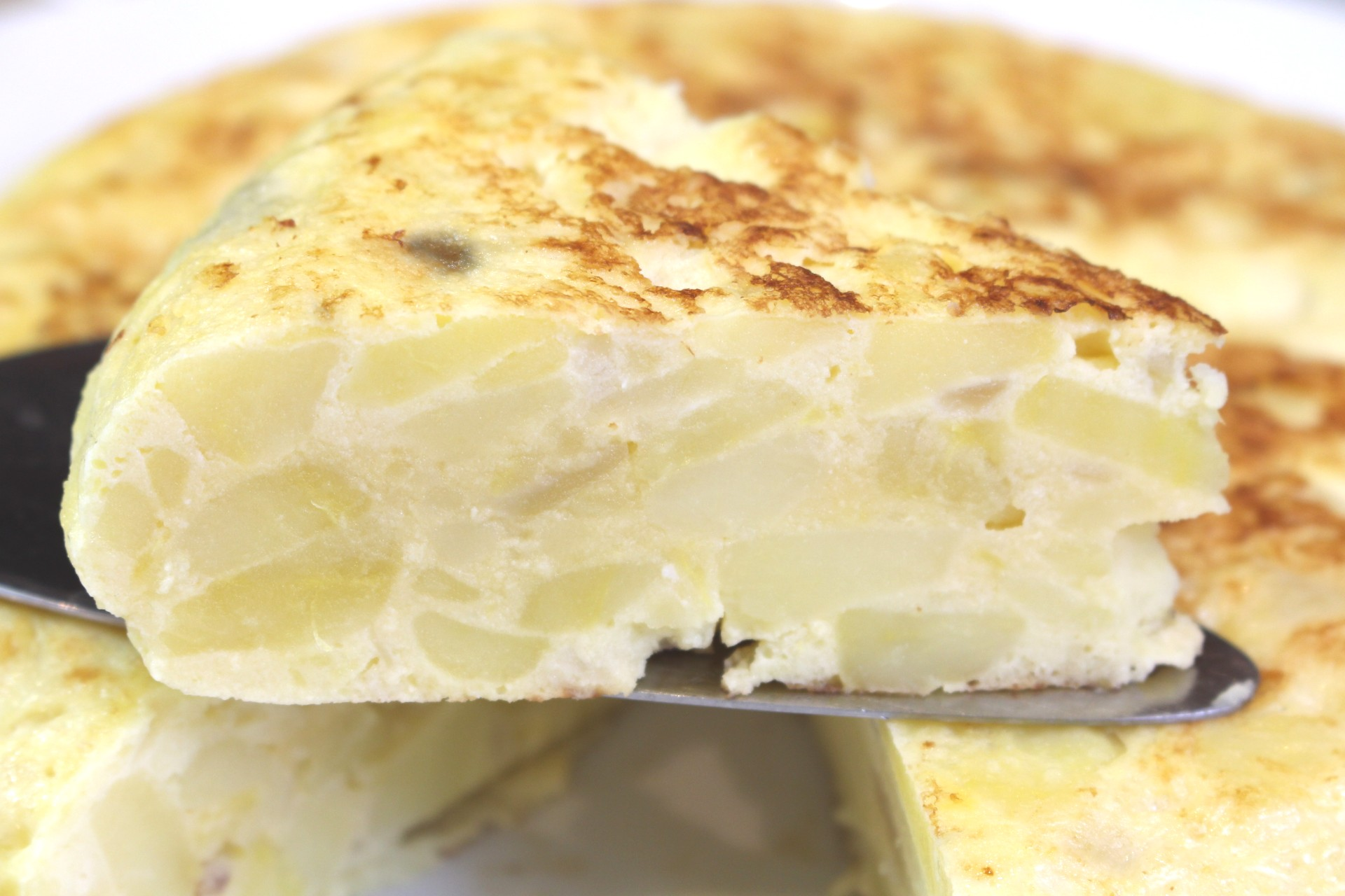 Receta tortilla de patatas light
