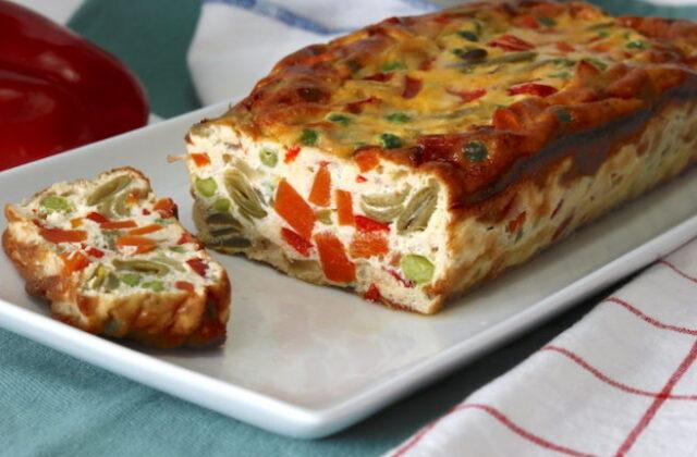 Receta saludable: Pastel de verduras