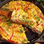Tortilla de verduras ¡Pierde peso!