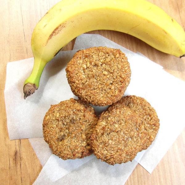 Galletas saludables de avena y plátano